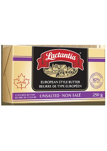 Beurre non salé de type européen Lactantia®