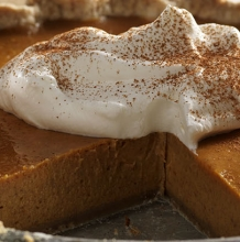Pumpkin Pie with Maple Walnut Crust