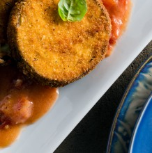 Breaded Eggplant in a Rosé Sauce
